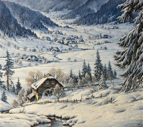 AlteMühleimSchneeimSchwarzwaldoldmillinthesnowattheBlackForestvonKarlHauptmannaufartnet_99.artnet.jpg